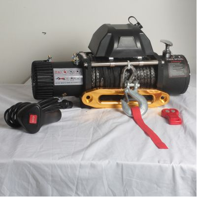 Recovery winch 9000lbs with synthetic rope